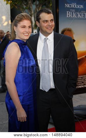 Justin Zackham and wife Katherine at the World premiere of 'The Bucket List' held at the ArcLight Theaters in Hollywood, USA on December 16, 2007.