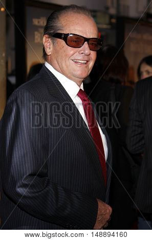 Jack Nicholson at the World premiere of 'The Bucket List' held at the ArcLight Theaters in Hollywood, USA on December 16, 2007.