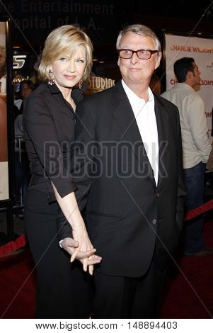 Mike Nichols and Diane Sawyer at the World premiere of 'Charlie Wilson's War' held at the Universal Studios in Hollywood, USA on December 10, 2007.