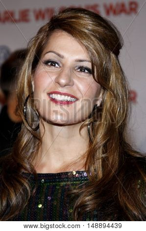 Nia Vardalos at the World premiere of 'Charlie Wilson's War' held at the Universal Studios in Hollywood, USA on December 10, 2007.