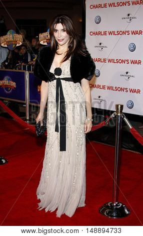 Jo Champa at the World premiere of 'Charlie Wilson's War' held at the Universal Studios in Hollywood, USA on December 10, 2007.