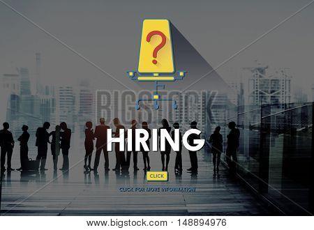 Hiring Human Resources Career Plan Concept