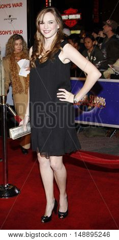 Danielle Panabaker at the World premiere of 'Charlie Wilson's War' held at the Universal Studios in Hollywood, USA on December 10, 2007.