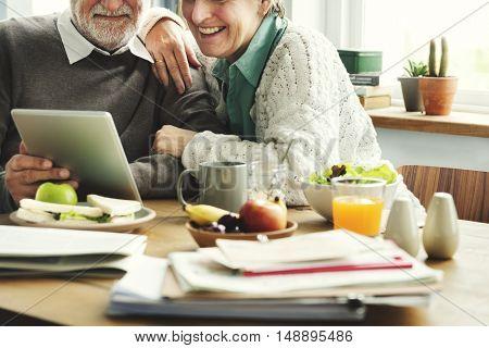 Senior Couple Living Casual Pensioner Social Concept