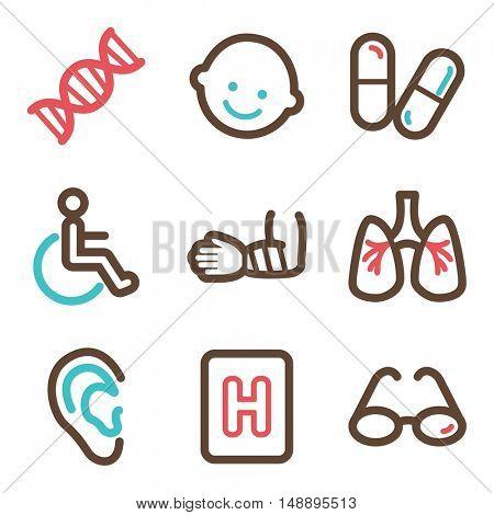 Medicine mobile icon. Health infographics symbols.