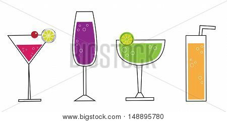 Fun Summer Cocktail Martini Alcohol Beverages Drinks