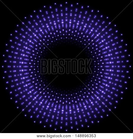 Bright purple glowing beams abstract background. Vector design