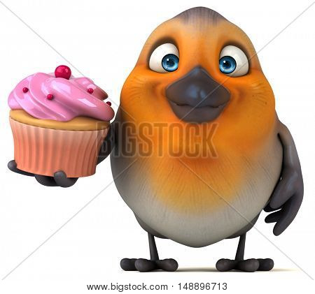 Fun bird - 3D Illustration