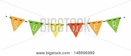 Colorful Summer Season Banner Bunting Flags Hanging