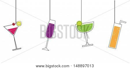 Summer Alcohol Cocktail Martini Drinks Beverages Hanging