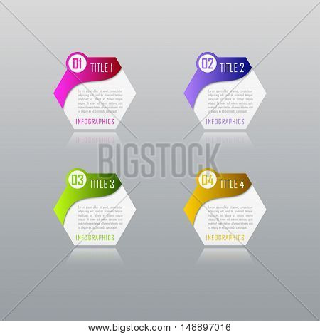 Infographic business concept with 4 options, parts, steps. Infographic design template and marketing icons