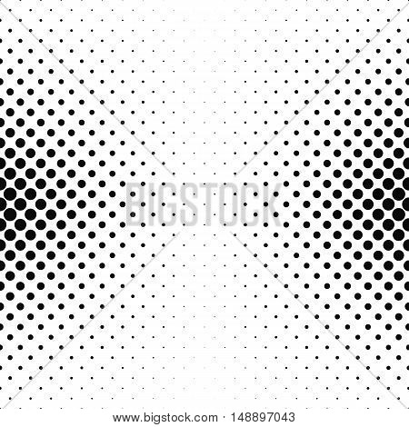 Abstract monochrome circle pattern background design - vector illustration