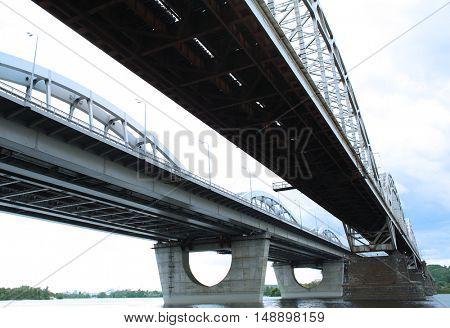 View of the modern bridge