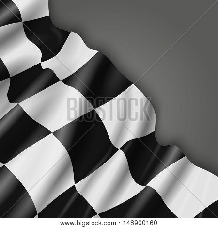 Abstract vector background with checkered racing flag. Signal for formula one illustration