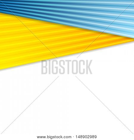 Abstract colorful corporate striped background. Vector card design