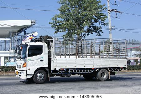 CHIANG MAI, THAILAND - JANUARY 6 2015:  Private cargo truck. Photo at road no 1001 about 8 km from downtown Chiangmai, thailand.