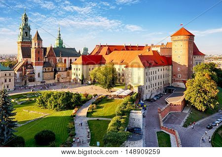 Krakow - Wawel castle at a day, Poland