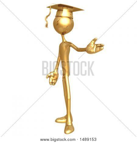 Golden Grad Presenter Graduation Concept