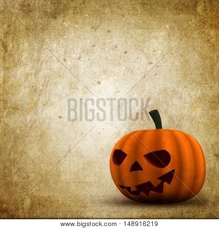 Grunge style Halloween background with Jack O Lantern