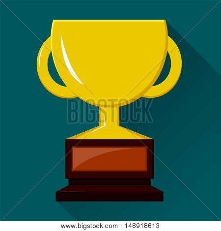 Winner cup. Colored flat vector icon. EPS10