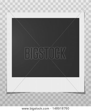 Photo frame a transparent layer. Vector stock illustration, EPS10
