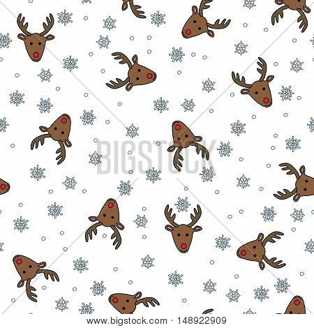 Reindeer Seamless Pattern