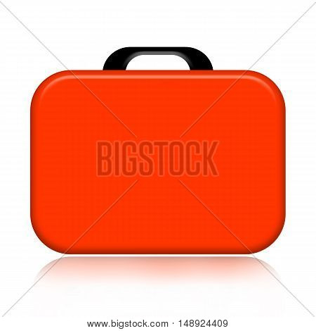 Orange case illustration isolated on white background