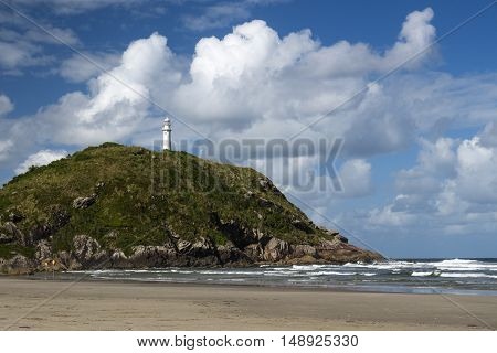 Lighthouse of Farol das Conchas Ilha do Mel Paranagua Parana State Brazil