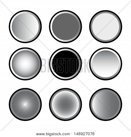 vector of Circle button on white background