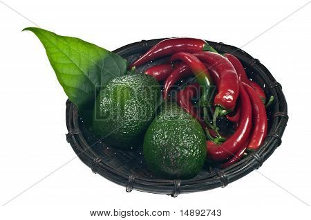 Avocado And Red Peppers