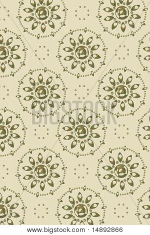 Background - Graphic Flower Faces Diagonal