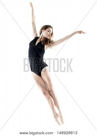 woman dancer dancing isolated