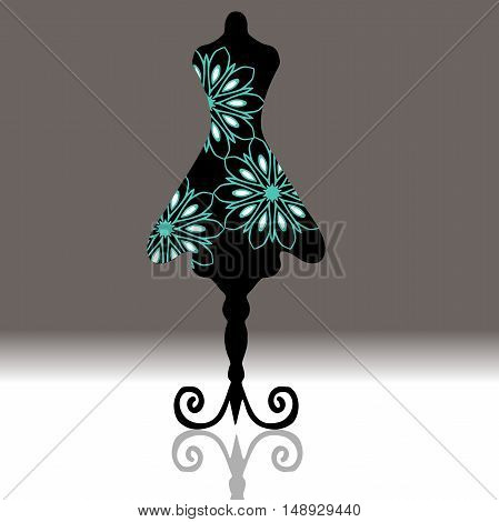 Very high quality original Mannequin drawn in outline with cool pattern