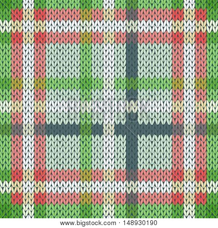 Seamless Knitted Pattern In Various Light Colors