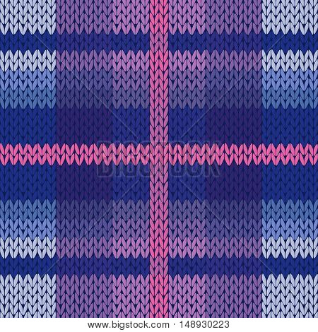 Seamless Knitted Pattern In Various Colors