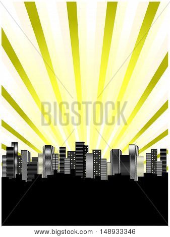 Vector skyscrapers - abstract background - illustration