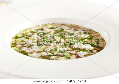 Traditional Cuisine - Cold Soup with Vegetables