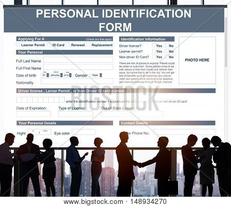 Personal Identification Form Application Concept