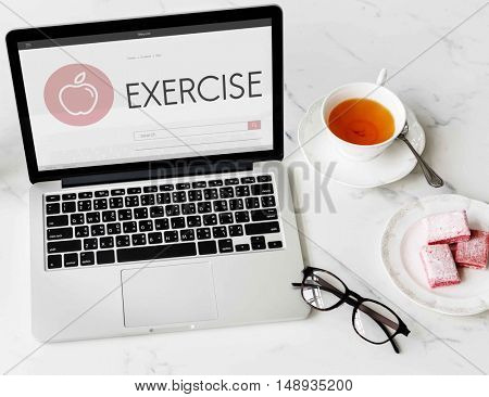 Health Wellness Diet Exercise Organic Concept