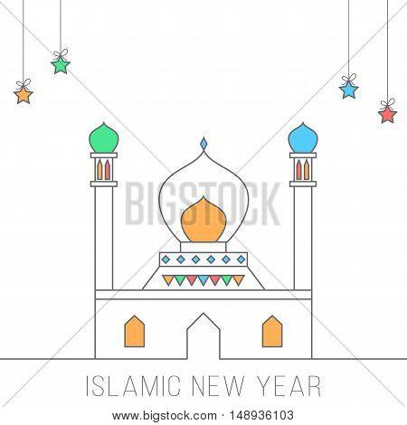 Islamic new year conceptual illustration card design