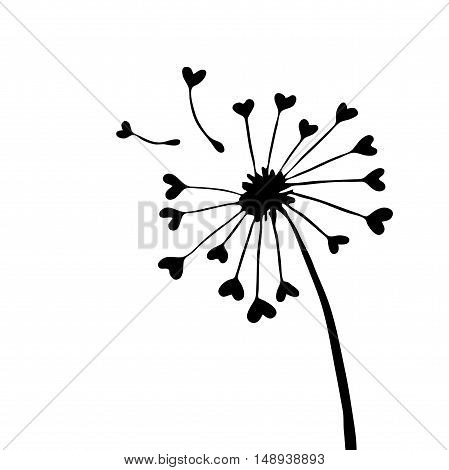 Very high quality original trendy  vector illustration of a dandelion