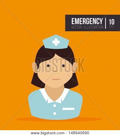 avatar woman nurse medical assitance cartoon. vector illustration
