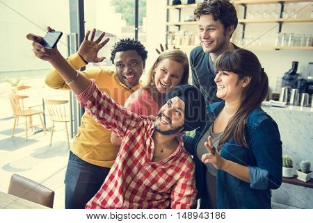 Groupie Together Teamwork Connection College Concept