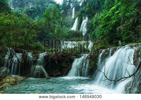 Thi Lo Su Waterfall or Thee Lor Sue in Thailand