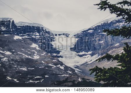 Avalanche On Rough Rocky Mountains