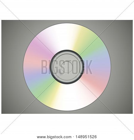 Realistic vector CD or DVD disk isolated illustration