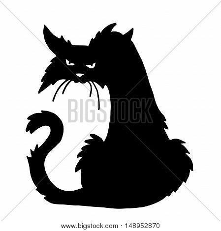 Very high quality original trendy  vector scary halloween cat