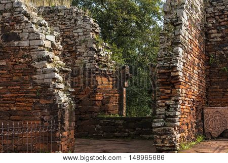 San Ignacio-Mini mission founded in 1632 by the Jesuits Misiones Province Argentina