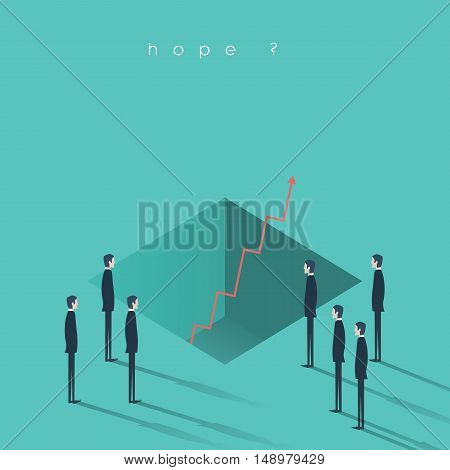 Business concept of growth and economic recovery from the bottom. Eps10 vector illustration.