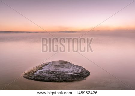Twilight over Yellowstone Lake and the Fishing Hole